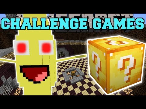 Minecraft: BANANA BOSS CHALLENGE GAMES - Lucky Block Mod - Modded Mini-Game