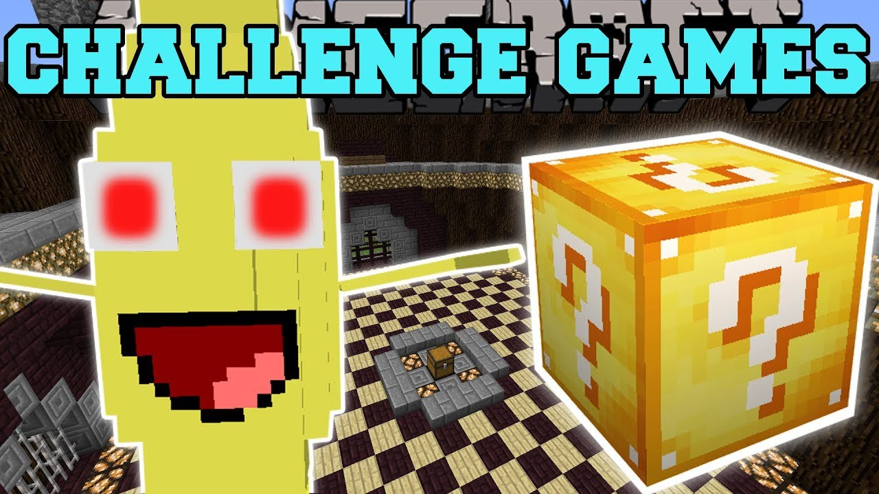Minecraft: BANANA BOSS CHALLENGE GAMES - Lucky Block Mod - Modded Mini-Game