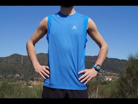 Blue Salomon Trail Runner Short Sleeve Mens Running Top
