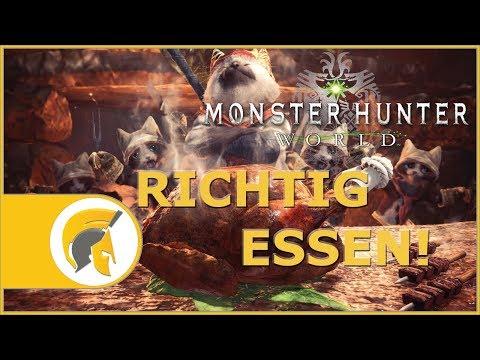 Monster Hunter World - Kantinen Guide - RICHTIG ESSEN! [deutsch/german][gameplay]