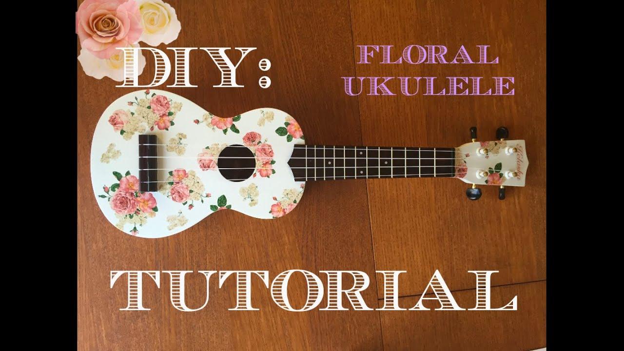 Diy floral ukulele tutorial kelaska youtube diy floral ukulele tutorial kelaska solutioingenieria Images