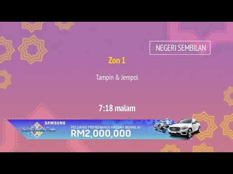 Ramalan waktu berbuka puasa TV3/NTV7/TV9 (2018/1439H)