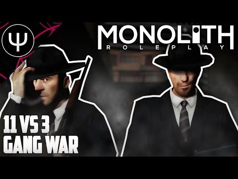 GMod: Monolith RP Mod — 11 vs 3 GANG War!