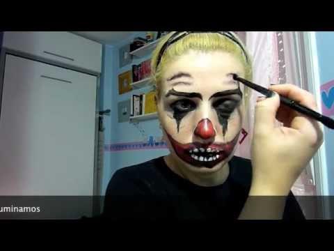 Halloween makeup payaso diab lico youtube - Pinturas para halloween ...