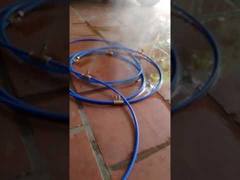 video máy phun sương chạy
