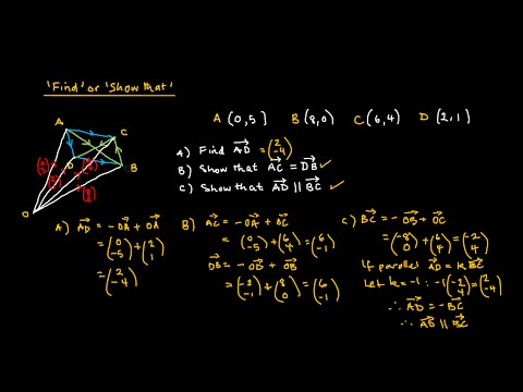 Geometry - Vector Analysis (Using Position Vectors)