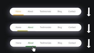 Miniature catégorie - Créer un menu avec un indicateur animé (Facile - avec JavaScript)