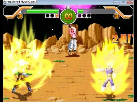 dragon ball z mugen  battle royal 2012 Goku vs Vegeta