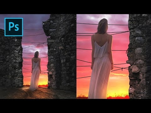 Photoshop Tutorial - Make Artificial Rope on Photo Manipulation Sunset thumbnail