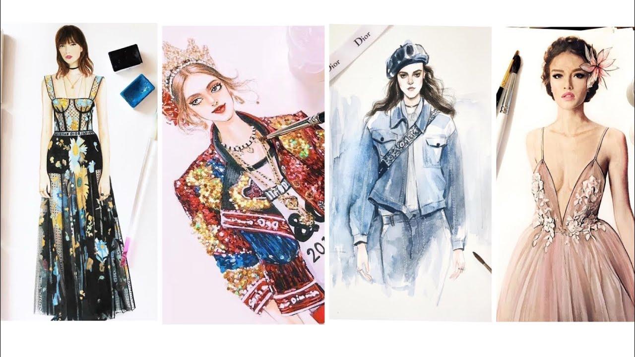 Thiết Kế Thời Trang/Bản Vẽ Các Mẫu Thiết Kế Của Các Thương Hiệu Nổi Tiếng Như Dior,Dolce&Gabbana…