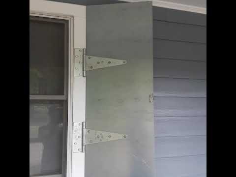 How to make steel shutters using steel plate