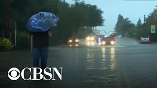 Severe weather in the West Coast as Northeast prepares for storm