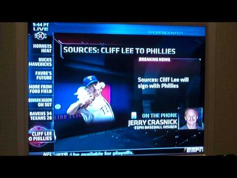 The Phillies and Cliff Lee make deal for Cliff to come back to Philly