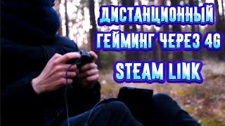 Играю в лесу через Steam Link