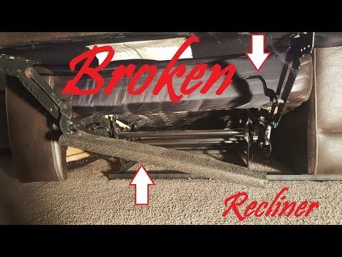 La Z Boy Chair Recliner Broken Spring On Leg Rest Rat