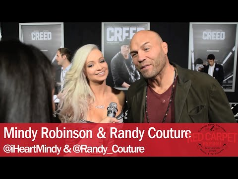 Mindy Robinson & Randy Couture interviewed at the Los Angeles Premiere of Creed #CREED