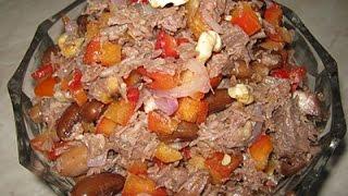 """Салат """"Тбилиси"""" - мужчины точно оценят (говядина, фасоль, садкий  и острый перец)"""