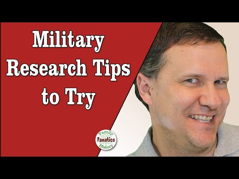 Military Research Tips from Michael L Strauss @RootsTech