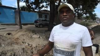 Comerciante Arnaldo Nascimento denuncia obra da Prefeitura de Goiana