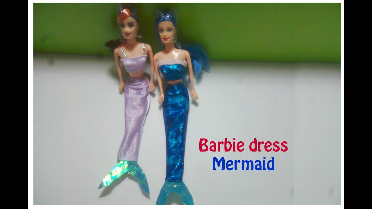 Baju Barbie Putri Duyung Barbie Dress Mermaid バービーのドレスマーメイド