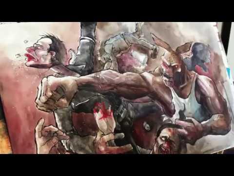 Timelapse comic art for Killeroo Gang Wars.