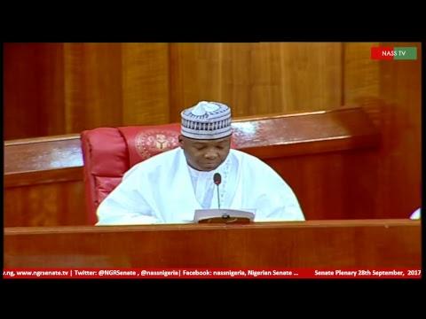 Senate Plenary, 28th September, 2017