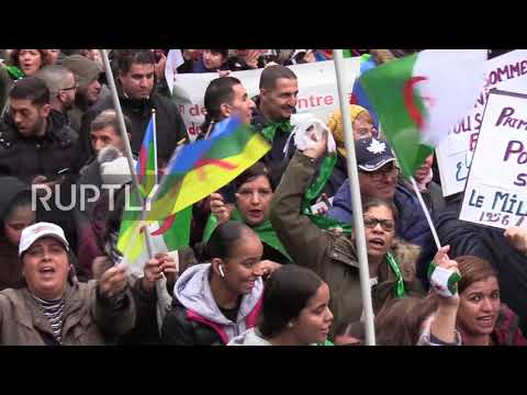 France: French-Algerians Celebrate The 65th Revolution Anniversary In Paris