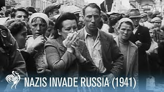 German invasion of Russia (distressing footage)
