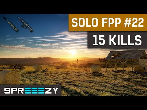 PUBG FPP Solo Game #22 | 15 Kills | New 2x Scope + Bonus AWM