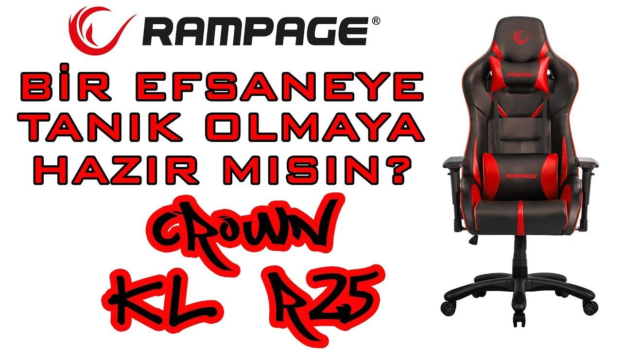 Everest Rampage Crown Serisi Kl R25 Oyuncu Koltugu Youtube