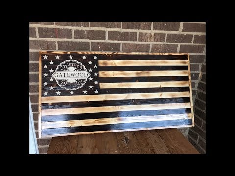 American Flag Torched | Made out of 2x4's