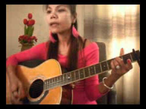 RUN Leona Lewis version cover by Me with acoustic guitar