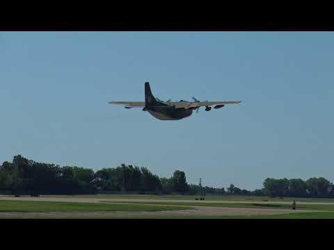 Fairchild C-123 Provider Departs EAA AirVenture 2017