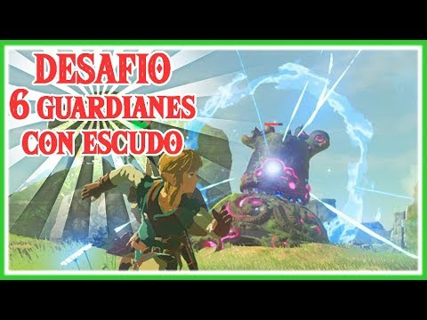 RETO DE ZELDA BREATH OF THE WILD - Matar a 6 Guardianes a la vez solo con Escudo