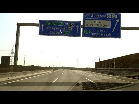 Drive: VIENNA - BUDAPEST at summer in 2 Hours and 20 minutes