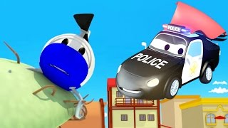 Patrol Policyjny wóz strażacki i radiowózi Hektor wpadł na drzewo | Samochody i Ciężarówki bajki