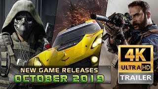 Top 10 Games Coming Out In October  2019   4k Ultra Hd  | 3cgames