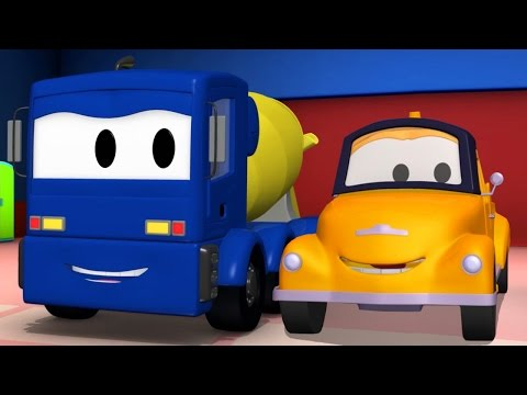 Tom the Tow Truck and the Concrete Truck in Car City | Trucks cartoon for kids
