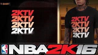 41fb0f38a75294 NBA 2K16 How To Get 2KTV Shirt 👕👖👟 ⋆ NBA2K16⋆ ...