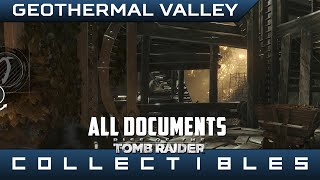 Rise of the Tomb Raider - All Geothermal Valley Documents - Location Guide