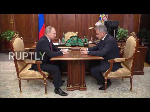 Russia: Defence Minister Sergei Shoigu briefs Putin on completion of Aleppo operation