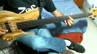MICHAEL MANRING-The book of living and dying-COVER-On JCR fretless bass-