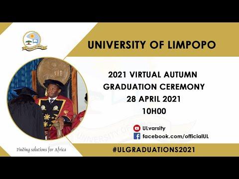 University of Limpopo Virtual Autumn Graduation Ceremony 2021