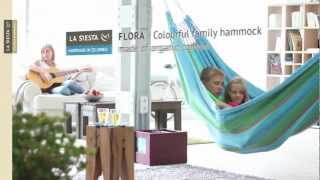 La Siesta Flora - Family Hammock Made Of Organic Cotton