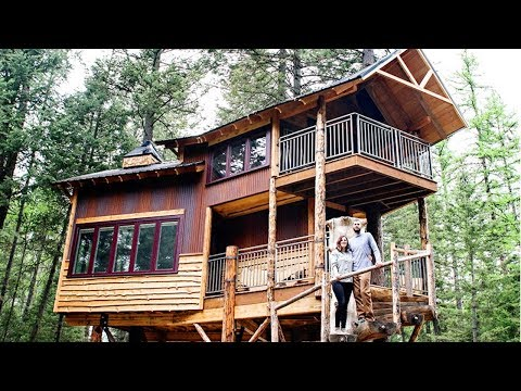 Whitefish Couple's New Luxury Treehouse Retreat Featured On Diy Network's Television Show