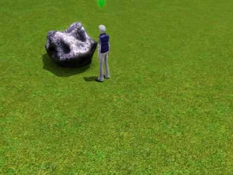 The Sims 3 - My Sim Finds An Gigantic Space Rock