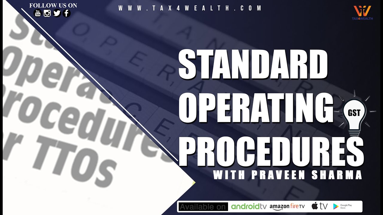 STANDARD OPERATING PROCEDURES for Non Filers of GST Return in Hindi