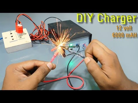 DIY 12 volt 6000 mAh  charger   how to make a charger   homemade  charger