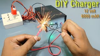 DIY 12 volt 6000 mAh  charger | how to make a charger | homemade  charger