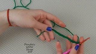 Вязание крючком для начинающих #2★ Воздушная петля ★ Цепочка воздушных петель